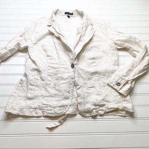 Willi Smith women's striped buttoned shirt size 4